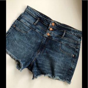 Refuge 14 Denim Shorts Jean High Rise Bootie